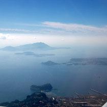 Ischia, Procida, Phlegräische Halbinsel, vorne das Castel dell'Ovo