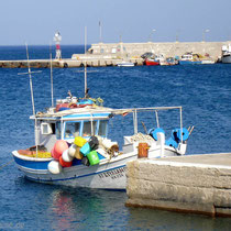 Karpathos: Fischerboot in Diafani