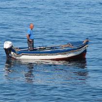 ...mit dem Boot