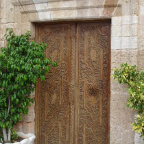 Kreta: Holztür in Chania