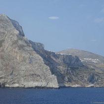 Folegandros - die Steilküste