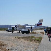 Das Flugzeug nach Athen