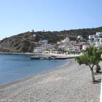 Karpathos: Die Uferpromenade in Diafani