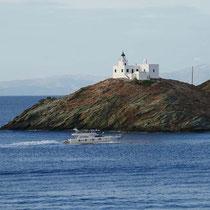Der Leuchtturm am Kap Agios Nikolaos
