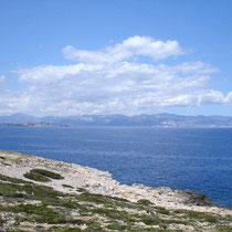 Die Rückseite von Naxos