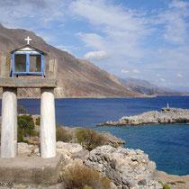 Kreta: Ikonostasi auf dem Ausgrabungsgelände von Finix bei Loutro