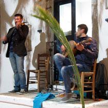 Geige und Laouto - die klassiche Besetzung für Nissiotika