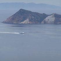 Der Seajet von Kap Foukovouni und den Arkoudes