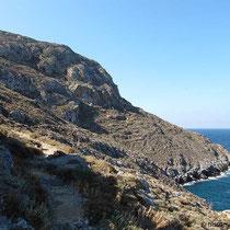 Richtung Agios Fotis