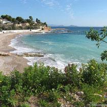 Der Strand von Agia Marina