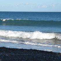 die Wellen höher