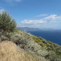 Blick nach Lipari und Vulcano