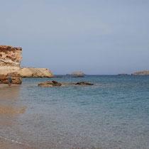 Die Küste am äußersten Nordosten von Paros