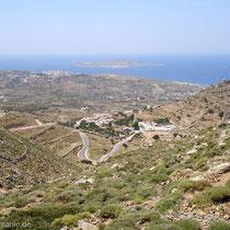 Kasos: Auf dem Weg nach Agios Mamás. Blick zurück