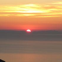 Der Sonnenuntergang - die Tage sind schon kurz