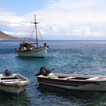 Kreta: Fischerboot in Loutro