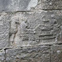 ... mit dem antiken Grabrelief