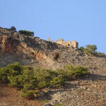 Kreta: Die türkische Burg oberhalb von Agia Roumeli