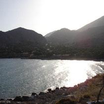 Chalki: Der Strand von Pondamos