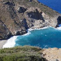 Die Bucht von Agios Dimitrios