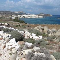 Pigados-Strand mit Steinbruch