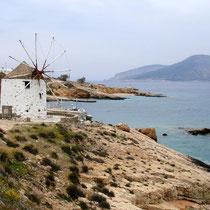 Windmühle zwischen Werft und Agios Nikolaos