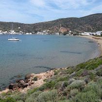 Blick auf die Bucht von Vathy...