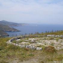 Amorgos: Blick nach Westen und Alt-Arkessini