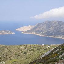 Blick auf die Westküste und Nikouria