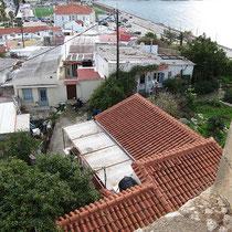 Blick auf unser Häuschen von der Fortezza aus
