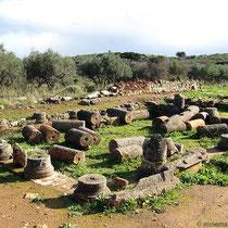 Römische Villareste mit Säulen