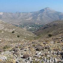 Blick nach Norden auf das Tal von Vathy