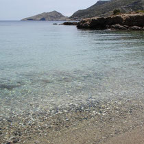 Am Strand von Ormos Roussas
