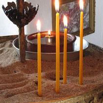 Zwei mal zwei Kerzen