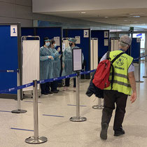 Testkabinen am Athener Flughafen