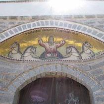 Mosaik über der Türe