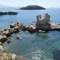 ... an der Felsenküste