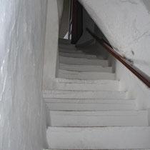 Amorgos: Steile Trepe im Kloster