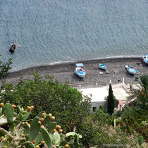 Blick zum Strand bei Perciato