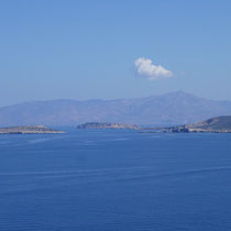 Die nordöstlichen Ausläufer von Paros und dahinter Naxos