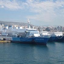 Drei Fähren der bankrotten G.A Ferries...