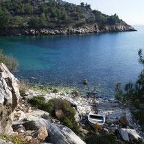Die Bucht von Agios Giannis Loukas