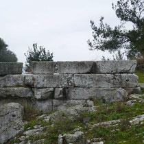Die Basis des Athene-Tempels