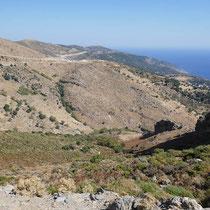 Blick zur Nordküste und Richtung Kap Kafireas