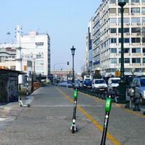 eRoller-Parkplatz auf dem Gehweg?