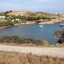 Blick zurück auf die Bucht