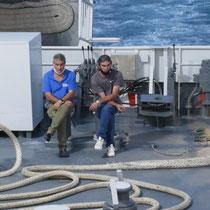 Erschöpfte Seeleute