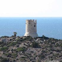 Wachturm auf der Trachili-Halbinsel