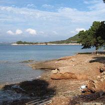 Küste der Zogeria-Bucht