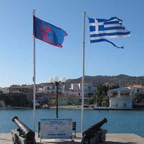 Die Flaggen im Wind